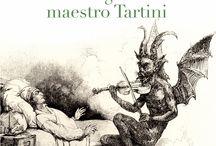 """""""La fuga del maestro Tartini"""" Ernesto Pérez Zúñiga / 1769, Giuseppe Tartini, autor de """"El trino del Diablo"""", rememora su vida cuando presume que el tiempo se le agota. Tras múltiples aventuras con la espada, encuentra sosiego en el violín y en un amor prohibido. Comienza un viaje a través de los secretos de la naturaleza humana que le lleva a enfrentarse con su lado más oscuro. Sus ansias de perfección le convierten en un personaje fáustico.  http://www.alianzaeditorial.es//fichaGeneral/ficha.php?obrcod=3586044&web=34"""