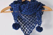 scialli di lana triangolari