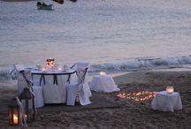 Candle light dinner on the beach / Wedding Anniversary , Candle light dinner, Lefkos, Karpathos Island, Greece, events, beach wedding