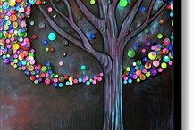 Make It DIY-Button Tree Canvas