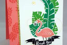 Pop of Paradise flamingo stamp