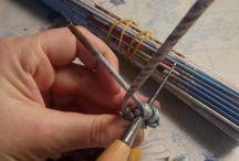 узелковое плетение (газетные трубочки)