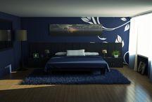 Modrá spálňa - Blue bedroom