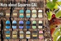 Haken CAL Nuts About Squares deken