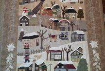 Quilt with houses