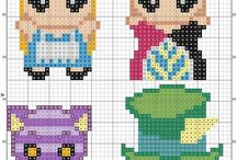 Beads/Perler/Hama Alice in Wonderland