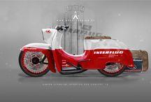Designvorlagen für E-Bike-Scooter