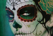 Los Muertos Encantados. / Day of The Dead Art / by Carmen Silguero