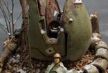 Gunpla / gunpla models and diorama