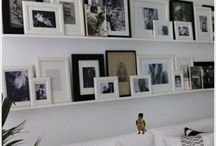 Frames layout on wall