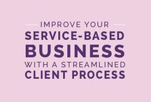 Client Services / Content on how to attract clients, educate clients, provide quality client service.