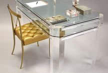 Decorating: Clearly Lovely  / Furniture in Lucite and Acrylic. Clear Accessories and Lighting. / by Kay