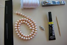 Jewelery. How to knot pearls.