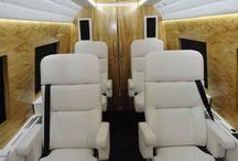 the interior of minibuses
