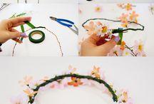 čelenky květinové