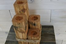 Candleholders / Really cool Reclaimed Wood candleholders