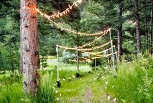 Wedding Ideas | Alfresco / Alfresco weddings can be the most magical venue for your big day. Whether it is in your back garden, in a woodland or field lights are the perfect decoration during the day and ensure the dancing can continue late into the night.