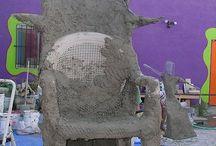 Concrete garden art