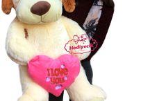 Köpek I Love You Kalp Yastıklı Sevimli Pufidik Hediyecik.com.tr Online Oyuncak Hediye Alışveriş 7/24 Sipariş 0212 325 24 25