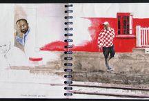 Travel sketchbooks / carnets de voyages