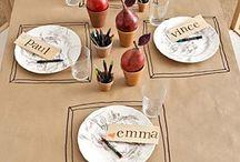 DECORATIE DIY  / versieren van een gedekte tafel of ideeën voor mooi gedekte tafels