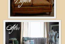Painted sofa