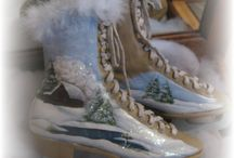 painted shoes/skates