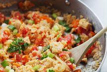 Riz et légumes