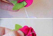 Λουλούδια από τσόχα