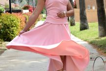 Gone with the wind fabulous / Pink Rose Top and Skirt for Spring!