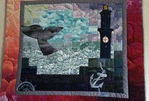 "1st ""Consorzio Liguria Via Mare Quilt Contest"" Theme: Whale Watching / www.whalewatchliguria.it"