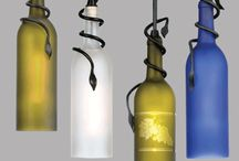Reuse Wine Bottles Creatively / Reusing wine bottle, giving them a 2nd life!