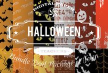 HALLOWEEN PAPERS / DIGITAL PAPERS - HALLOWEEN PAPERS BY DIGITAL PAPER SHOP