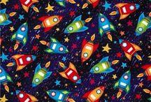 Rockets And Robots Fabrics