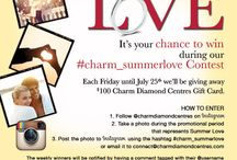 #charm_summerlove / It's your chance to win during our #charm_summerlove Contest!  Each Friday until July 25th we'll be giving away $100 Charm Diamond Centres Gift Card!  Follow the instructions on how to enter, and show us your #charm_summerlove