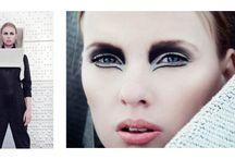My work / Mitt arbeid som makeup-artist og frisør lærling