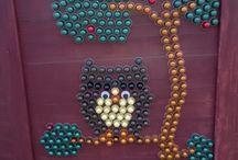 decoracion con capsulas cafe