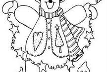 Snowman Stitchery