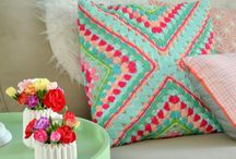 Crochet blanket,pillow