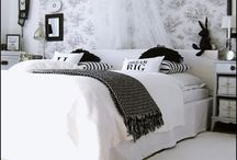 BEDROOM / Simple b&w bedrooms with arabic elements. I hope you enjoy my boards. I have filled them with things I love.