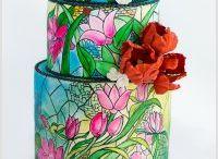Üveg festett torták