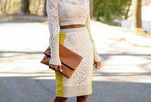Pencil skirt style loves!!