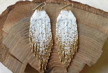 Earring delica & beads
