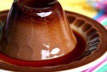 flan de chocolate y cafe