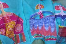 Meninachallolaestrelladiseños / Coleccion color pigmento batikbali realizado a mano igual ambos lados,  pieza unica 70 e