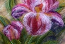 hand felted paint