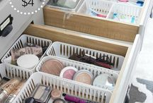 Organization / Get organized with ideas for your home, life, school or work. Organization tips included for closets, bedrooms, kitchen, bathrooms, garages and more.