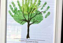 Día del padre-Father's day-Fête des pères / Recopilatorio de ideas para manualidades y regalos caseros hechos por niños para el día del padre.