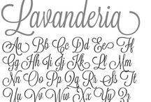 Handletter alfabet