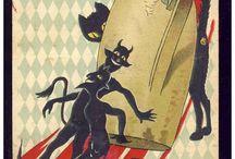 Krampus & Devil Postcards